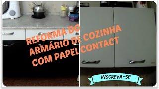Decore seu armário de cozinha com papel contact -