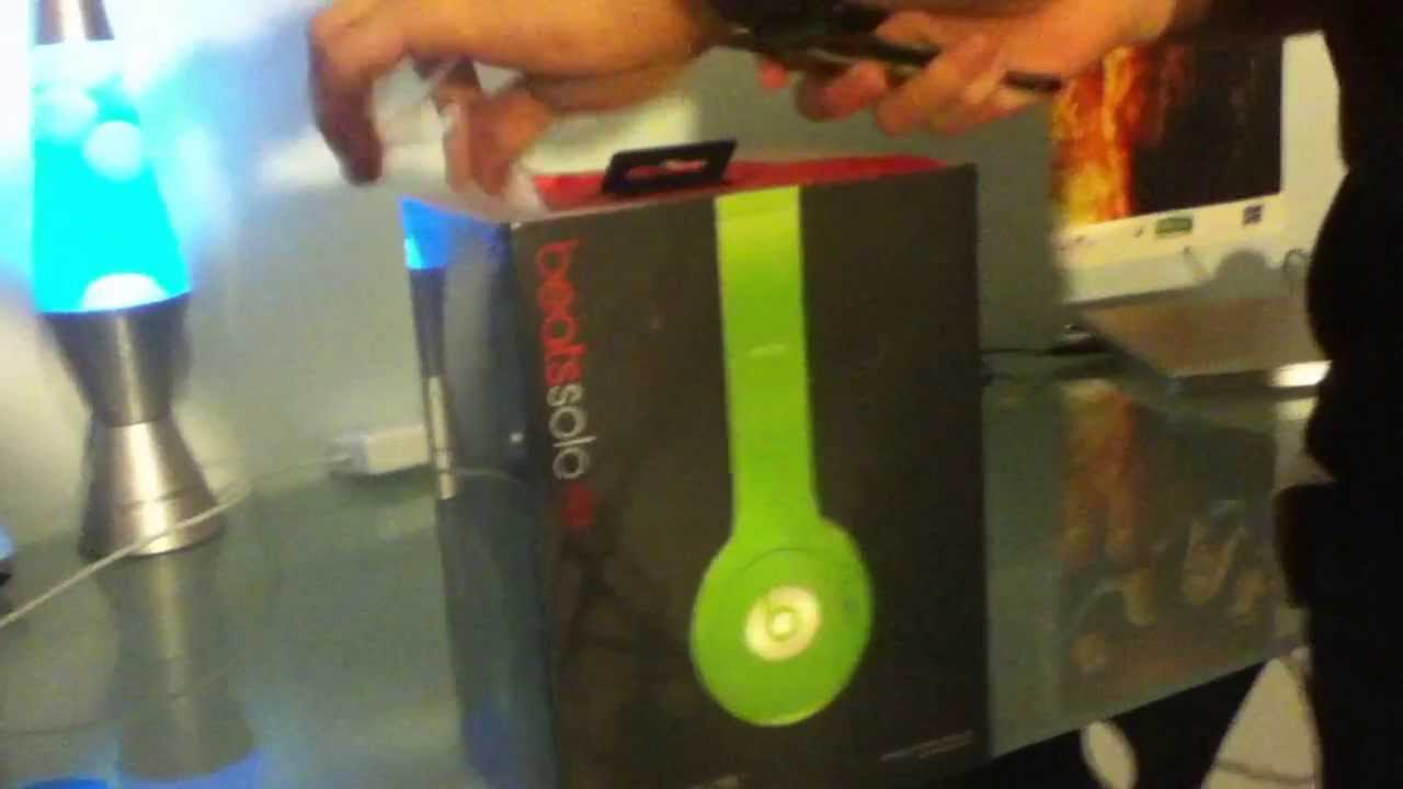 Beats By Drdre Solo Hd Lime Green Unboxing Youtube