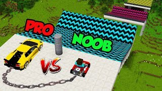 Minecraft Noob Vs Pro Stunt Car Jump Challenge In Minecraft  Animation