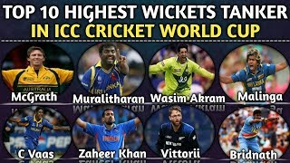 Top 10 Highest Wicket Taker In ICC Cricket World Cup | Most wicket in ICC Cricket world Cup