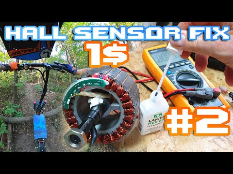 Escooter How To Fix Damaged Hall Sensor 🛠 Hard Test 💥 PVB 60 🚀 Sliding Over Fallen Tree 😎 Part 2