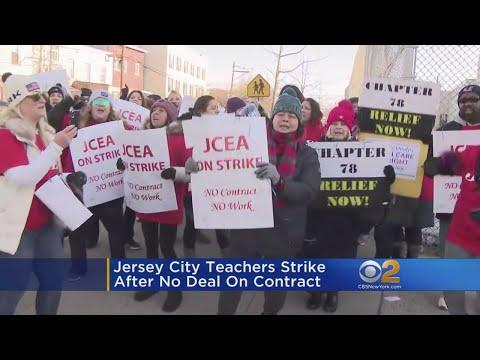 Jersey City Teachers On Strike
