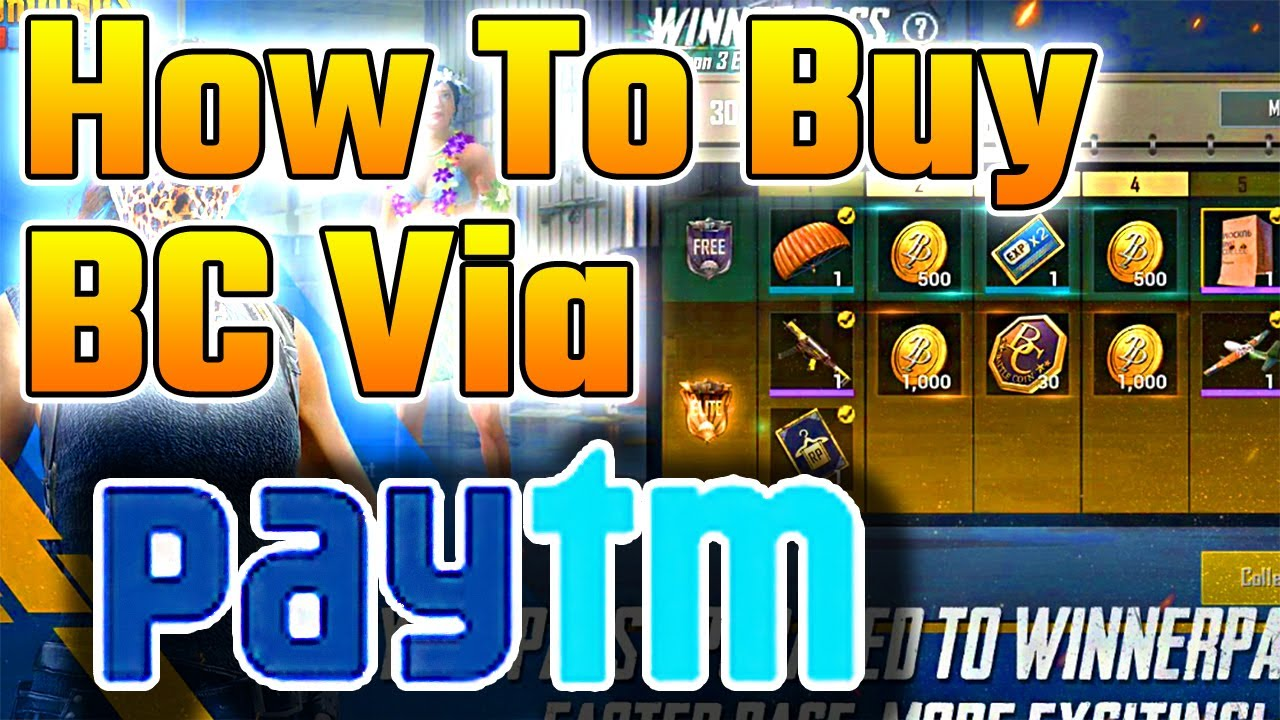 How To Buy BC With PayTm In Hindi | Pubg Mobile Lite