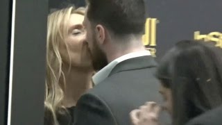 Aaron Taylor-Johnson And Wife Sam Share A Kiss At Catch