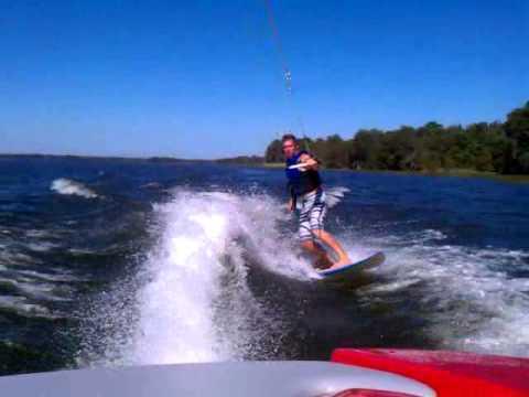 Surffing on Lake...Justin Rohe.