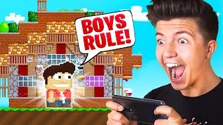 I BUILT MY FIRST GROWTOPIA HOUSE! - Boy vs Girl Challenge