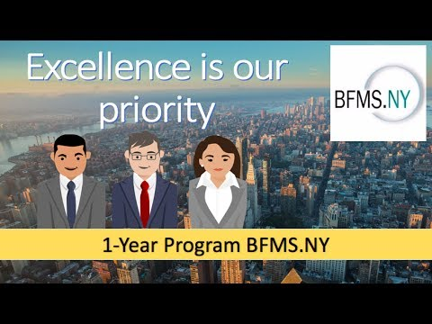 1-Year Program: Business, Finance and Management School of New York (BFMS.NY)