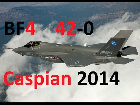 BF4 Perfect Stealth Jet Round (42-0) | Caspian Border: F-35 | Conquest Large HD Gameplay