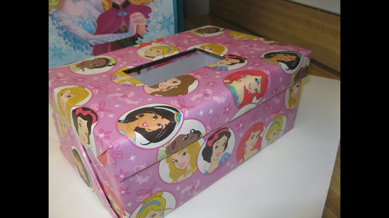 Diy Valentines Box How To Make Your Own Disney Princess Covered Box