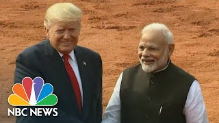 President Trump Holds Talks With Prime Minister Modi Of India | NBC News (Live Stream Recording)