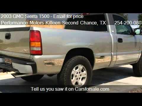 2003 GMC Sierra 1500 Work Truck - for sale in Killeen, TX 76
