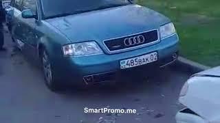 пьяный мудак разбил машины во дворе