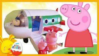 Histoire Peppa Pig - Peppa prend l'avion pour partir en Vacances - Titounis Touni Toys