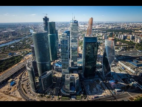 Russia December 2015: Moscow International Business Center—video by Canon G5X
