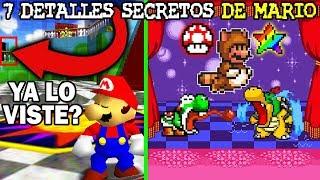 7 Detalles Secretos en Videojuegos de MARIO que Nunca Notaste