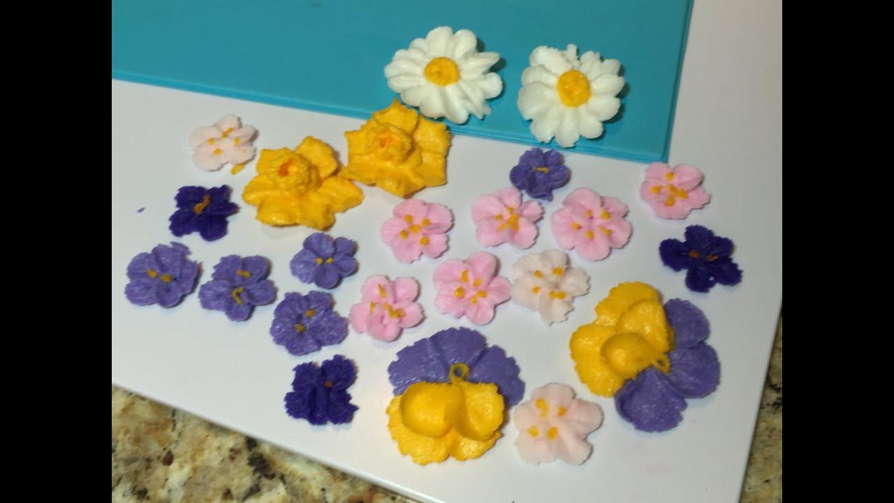Цветы из крема мастер-класс