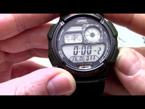 Часы Casio Illuminator AE-1000W-3A - Инструкция, как настроить от PresidentWatches.Ru