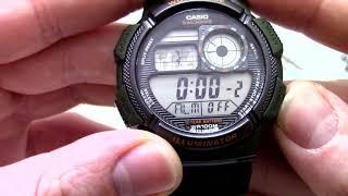 Годинник Casio Illuminator AE-1000W-3A - Інструкція, як налаштувати від PresidentWatches.Ru