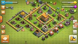 Me and my Ness playing clash of clans