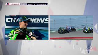 Cameron Beaubier Interview MotoAmerica EBC Brakes Superbike Race 1 at COTA