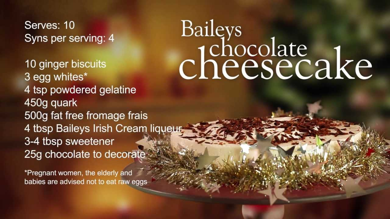 Slimming World Baileys chocolate cheesecake recipe - YouTube