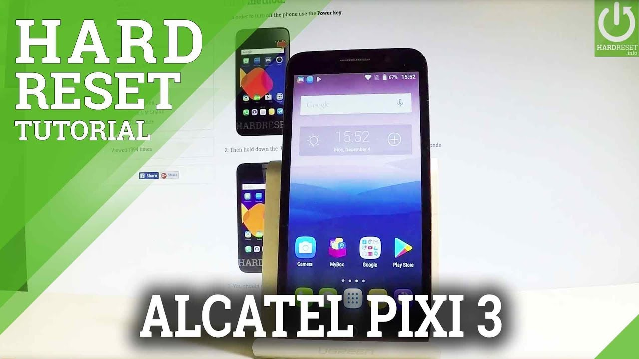 ALCATEL Pixi 3 Hard Reset / Remove Password / Format