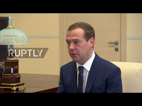 Russia: 'Our economy has entered a stage of growth,' Medvedev tells Putin