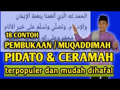 MUKADIMAH CERAMAH DAN PIDATO TERBAIK & TERPOPULER MUDAH DIHAFAL UNTUK PEMULA