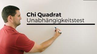 Chi Quadrat Unabhängigkeitstest 1, Stochastik, Statistik, Testen, Mathe by Daniel Jung