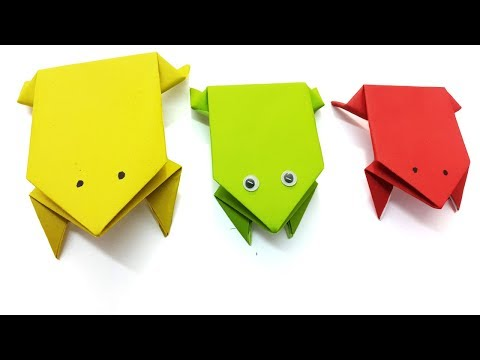 Origami Jumping Frog - How To Make A Paper Frog That Jumps Far - Best Easy Instructions