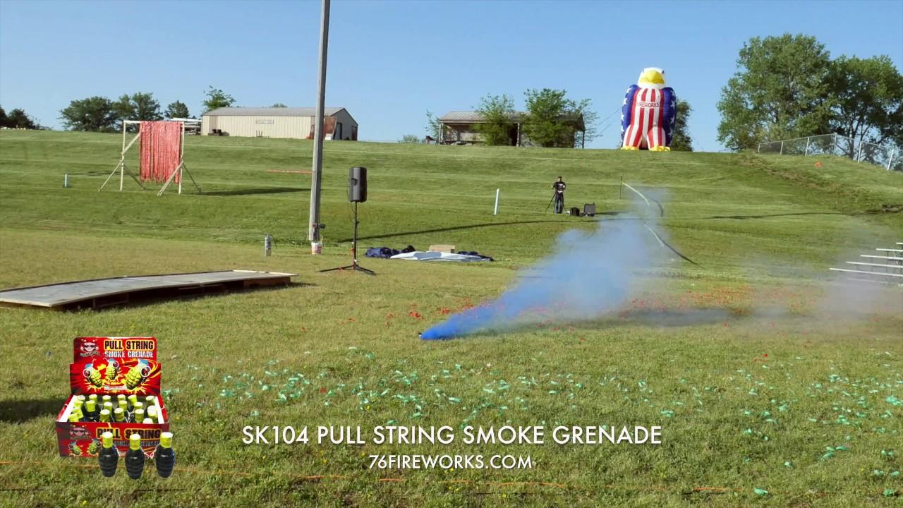 SK104 Pull String Smoke Grenade (Red/White/Blue)