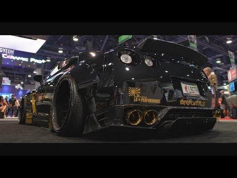 [4K] Black X Gold Liberty Walk GT-R R35 | ARMYTRIX | Platinum Forged | SEMA 2017 Customer Spotlight