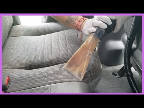 Disgusting Car Seats and Carpet Get Deep Cleaned