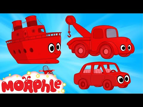Boat, Tow Truck, Car Morphle Cartoon Compilation for Kids