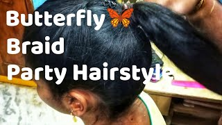 Beautiful Butterfly Braid | Party Hairstyle | Butterfly Braid | simple party hairstyle (in hindi)