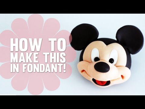 How To Model The Face Of Mickey Mouse - Cake Decorating Tutorial