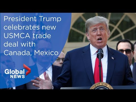 Trump's FULL press conference on new USMCA deal