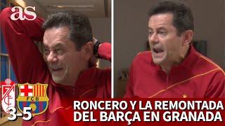 GRANADA 3- BARCELONA 5 | La reacción de RONCERO a la remontada del Barça en COPA | Diario AS