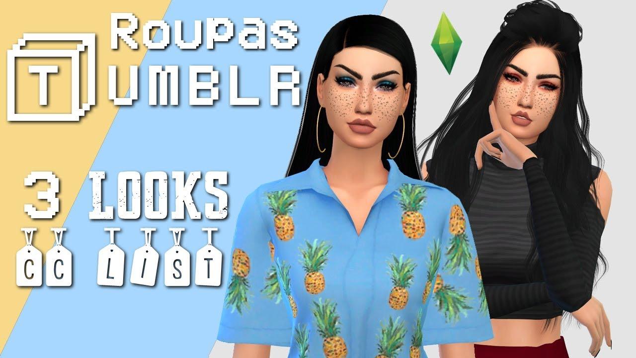 ROUPAS TUMBLR FEMININAS #1 || The Sims 4 (CC List)
