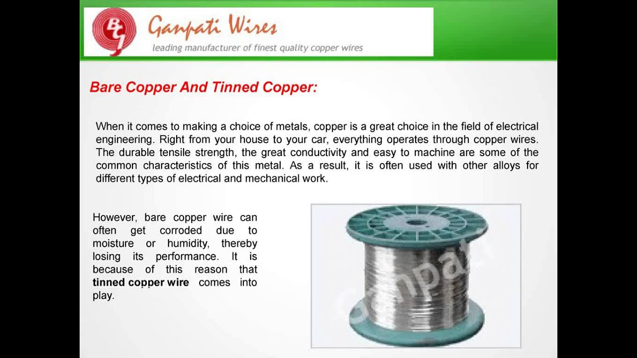 Advantages of Tinned Copper Wires