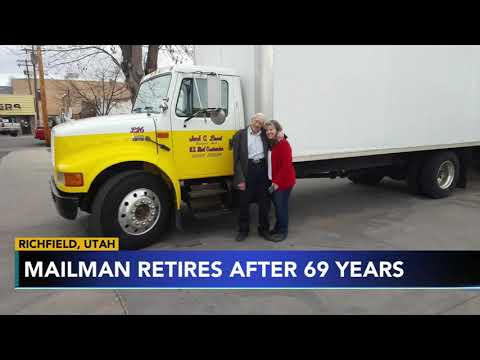 Monica Lowe  - How a 91-year-old Utah mailman retires with perfect record