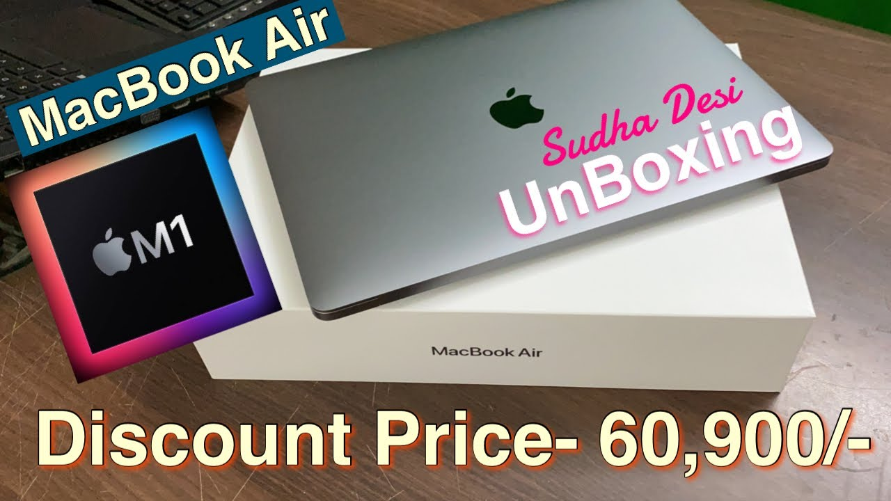 MacBook Air M1 2021 Unboxing & Review (Hindi)    Best ...