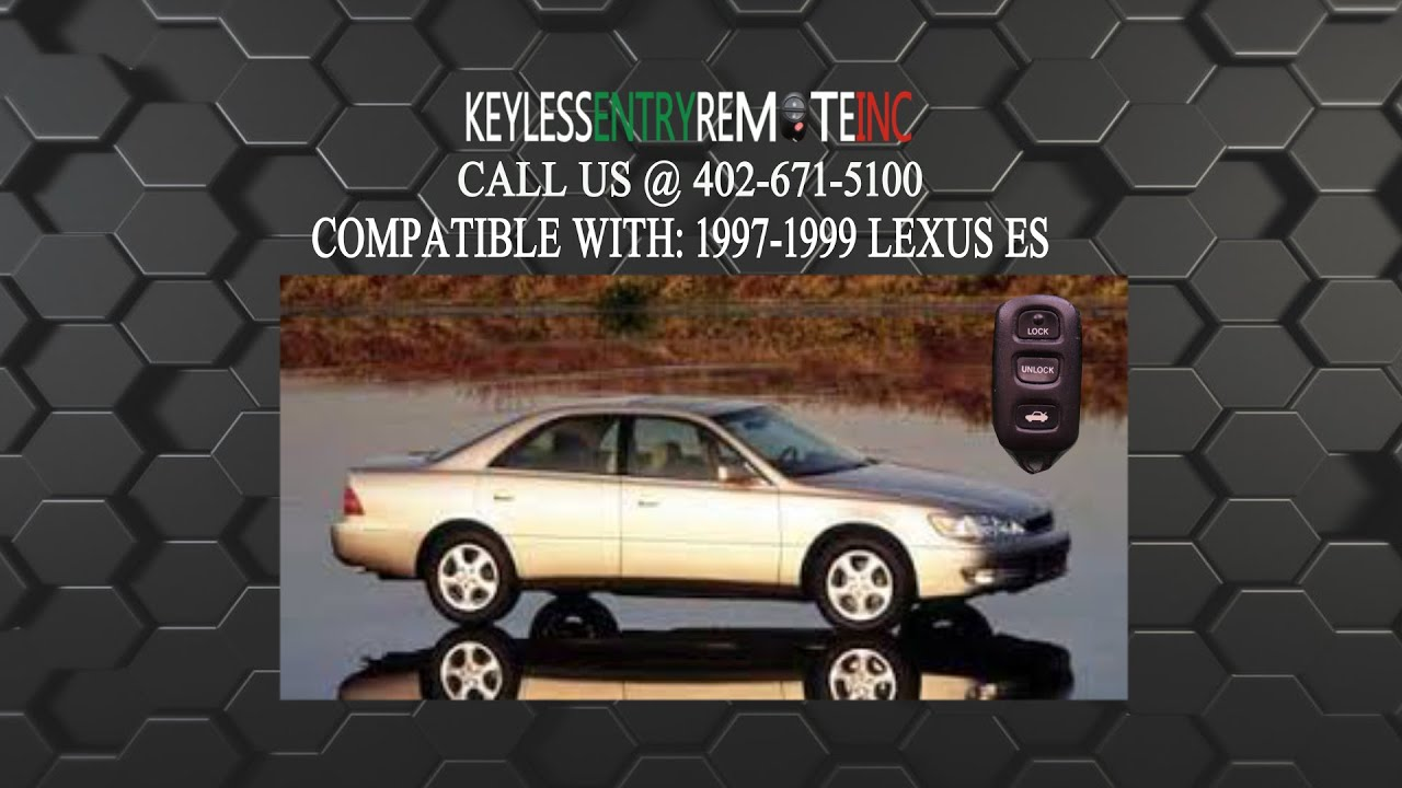How To Replace Lexus Es Key Fob Battery 1997 1998 1999 Youtube