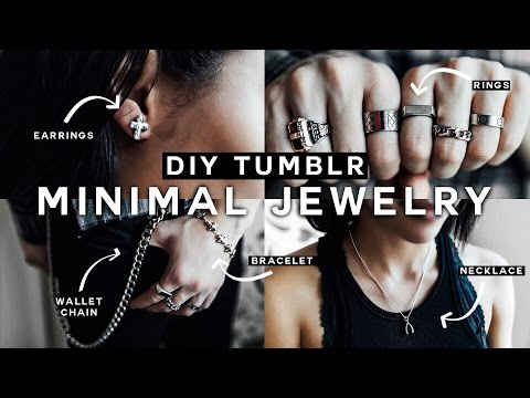 DIY Minimal Jewelry (Tumblr Inspired) UNISEX for 2017! - Affordable & EASY!
