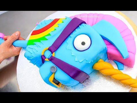FORTNITE CAKE - Rainbow Llama Unicorn | BATTLE ROYALE CAKE