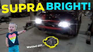 WELDING MY $3000 DIFF FOR THE SUPRA! + LED HEADLIGHTS!