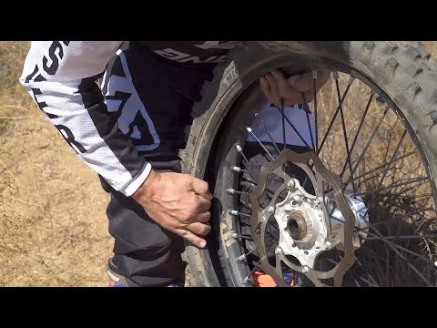 How To Repair A Motorcycle Flat Tire On The Trail | MC Garage