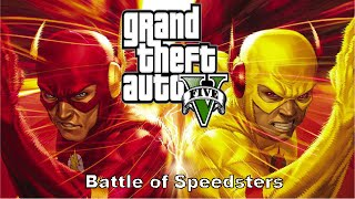 (Short Movie)GTA V Flash mod(funtage)Battle of Speedster-Flash vs Reverse Flash