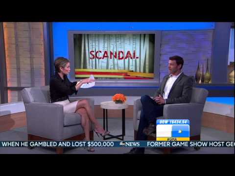 Amy Robach - leggy in interview short clip - March 6, 2014