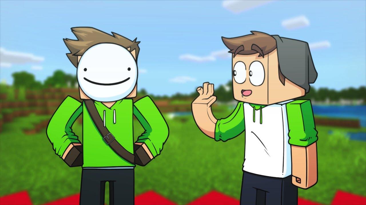 Dream VS Sam Green   Minecraft Animation (Dream Face Reveal!)